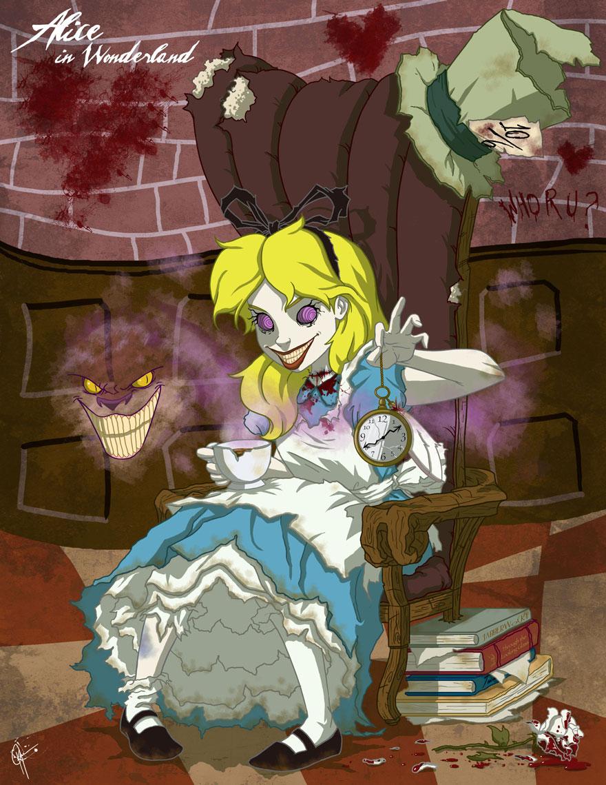 Картинки страшных принцесс диснея