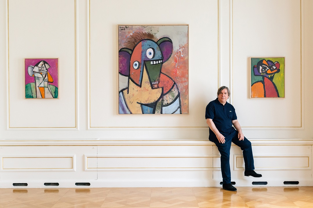 George Condo Museum of Cycladic Art Photo Paris Tavitian 1
