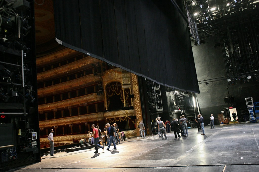 Theater backstage