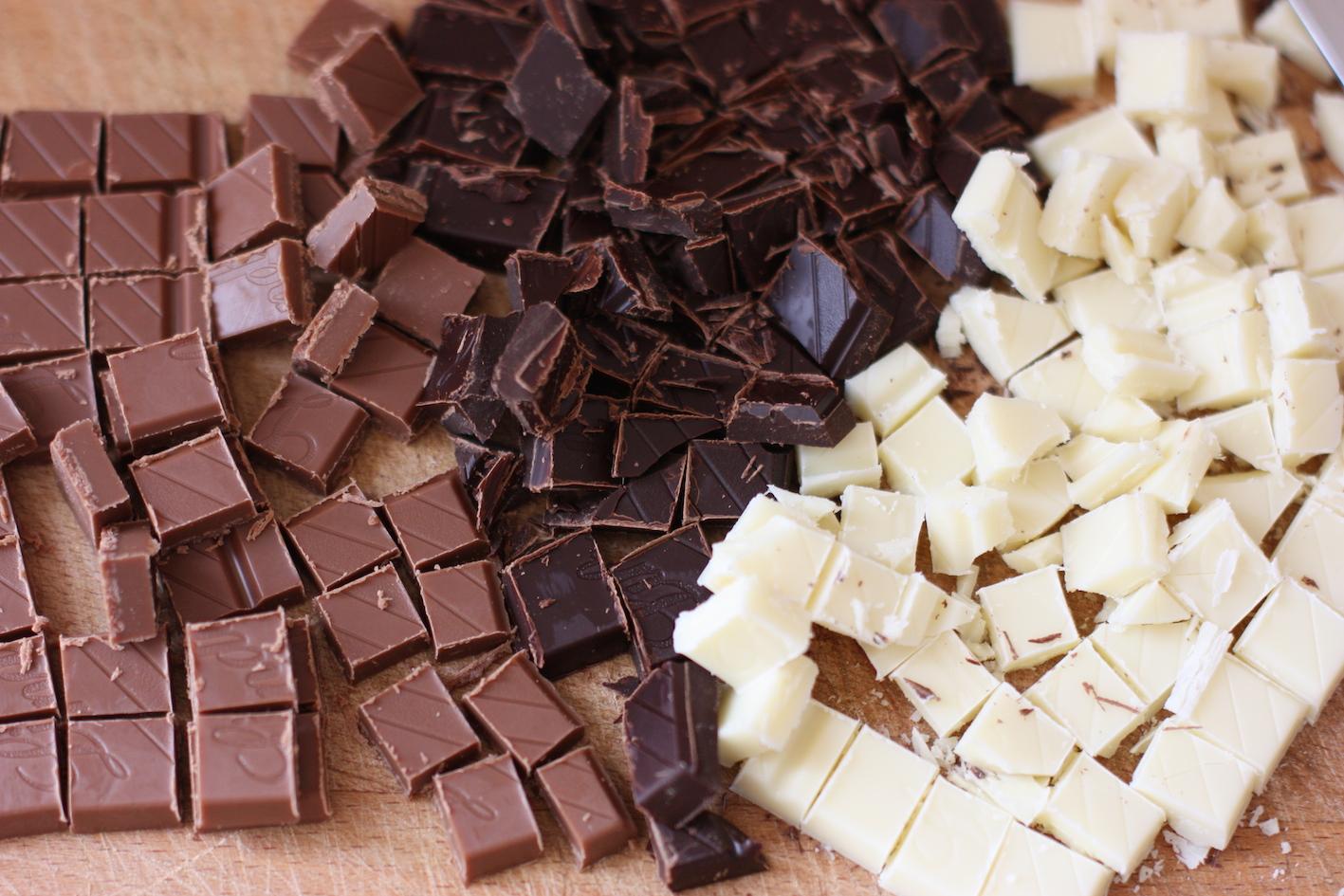 Dark white milk chocolate
