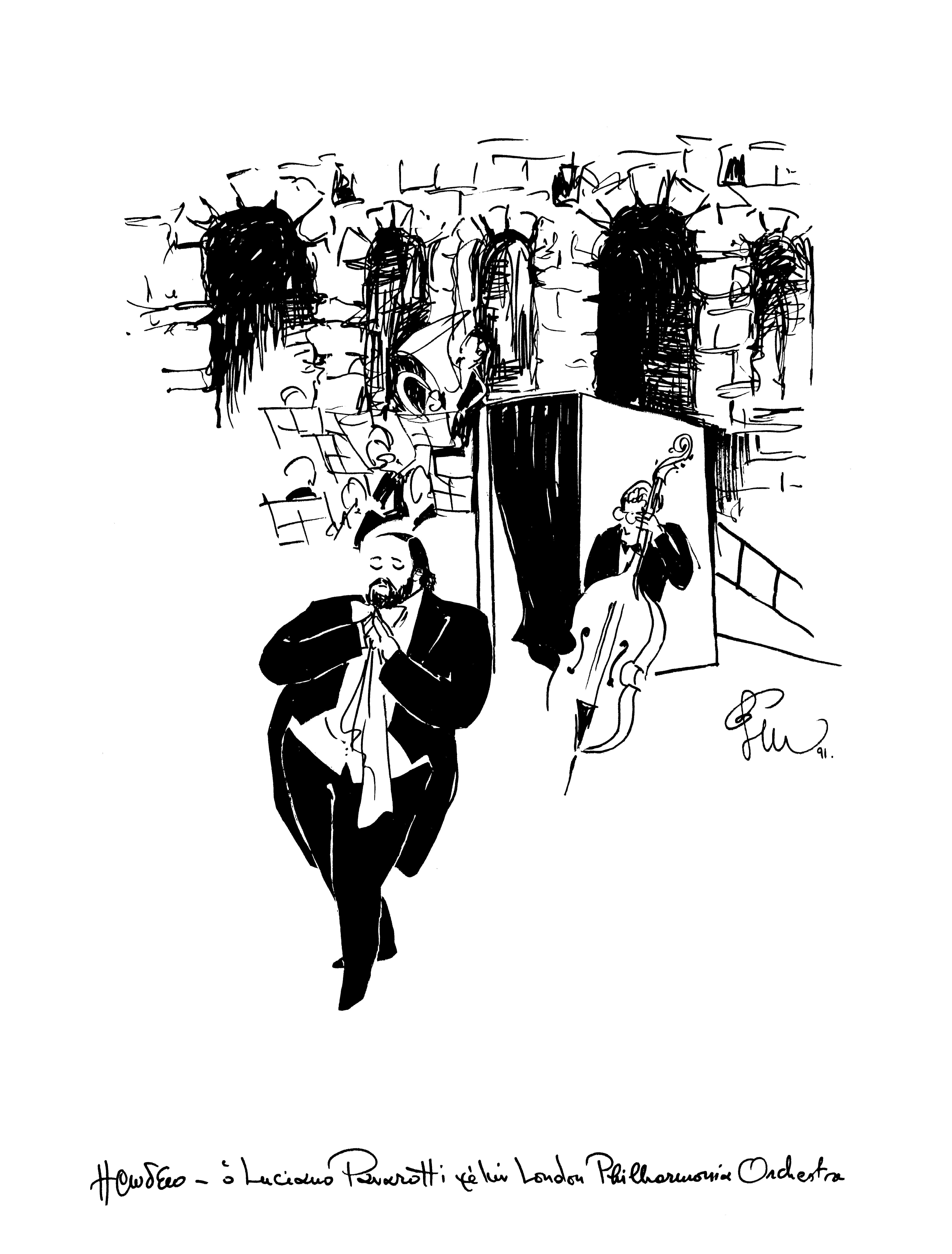 Luciano Pavarotti PHILARMONIA ORCHESTRA του Λονδινου Ηρωδειο 1991