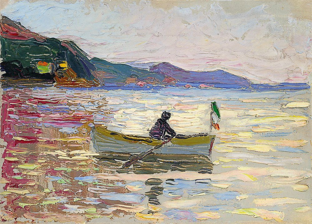 Rapallo boat in the sea 1906