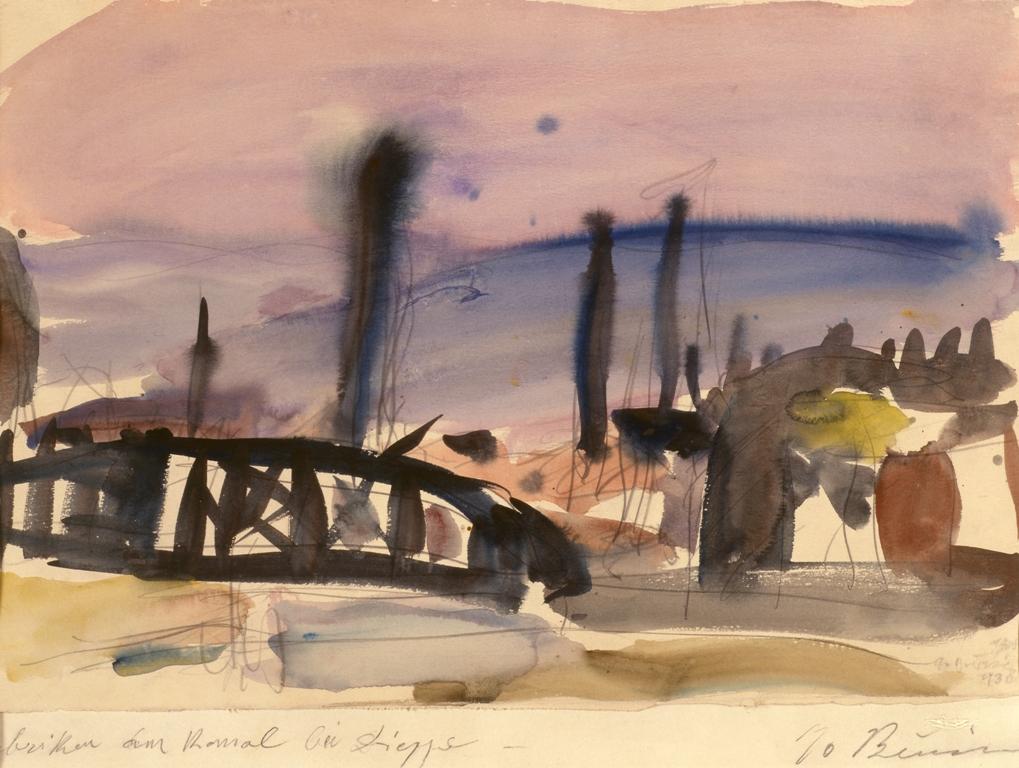 Γεώργιος Μπουζιάνης (1885-1959) /  Κανάλι στη Διέππη (1936)  Υδατογραφία 32χ48 εκ. | ©ΟΠΑΝΔΑ
