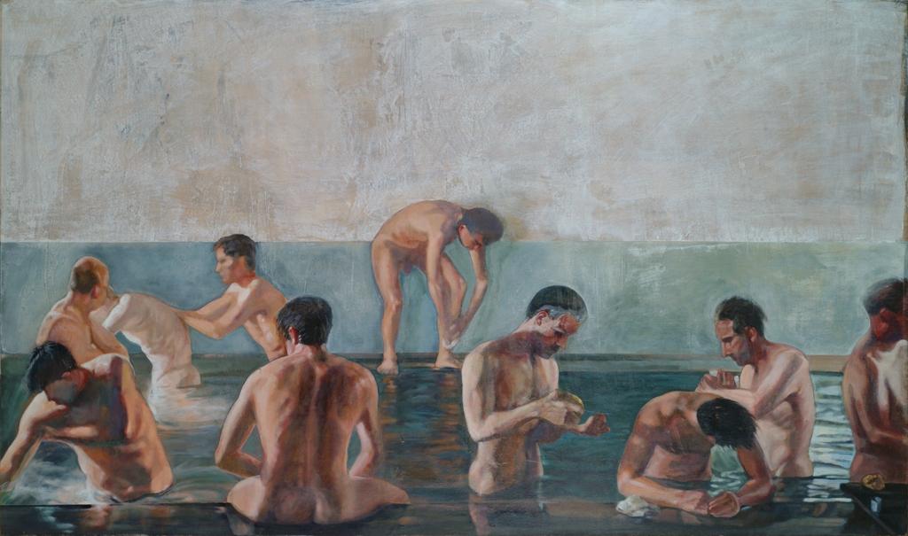 Αλέκος Λεβίδης, Λουόμενοι [1990], Συλλογή Σωτήρη Φέλιου