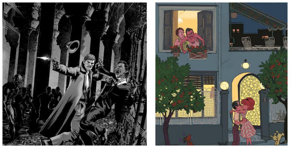 Από τα αριστερά προς τα δεξιά: «Berlin» Νικόλα Κούρτη & «Technicolor» Αγγελικής Σαλαμίκης.
