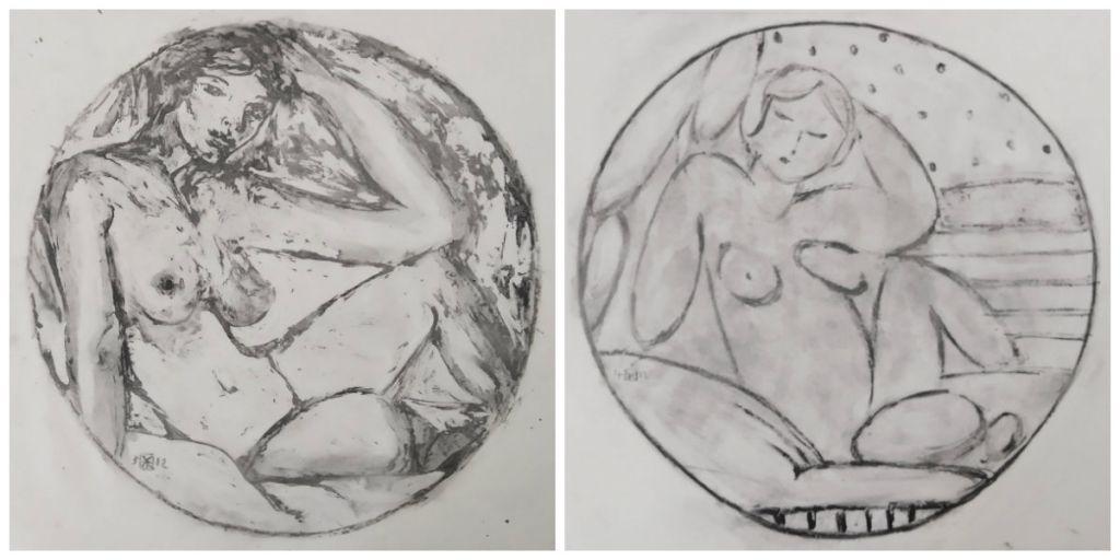 Δύο έργα του Γιώργη Βραχνού από την έκθεση «Οδαλίσκη»