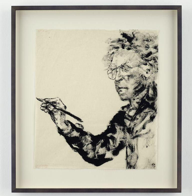 Αυτοπροσωπογραφία, 1991, μελάνι σε χαρτί, 39 Χ 34 εκ. (φωτ. Mathew Hollow)