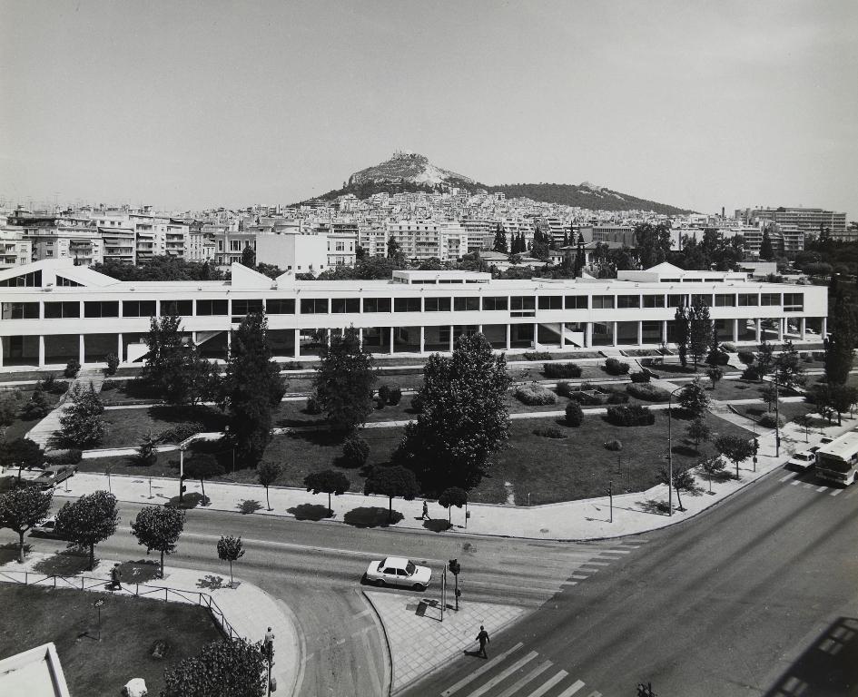 Γενική άποψη του Ωδείου Αθηνών (φωτογραφία γύρω στο 1975).