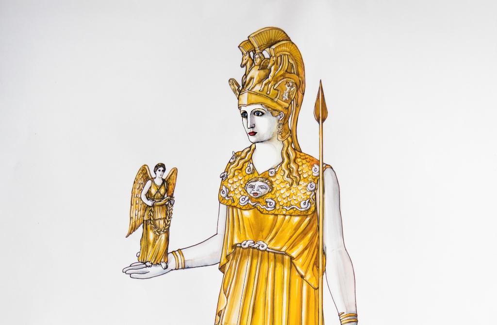 Το χρυσελεφάντινο άγαλμα της Αθηνάς Παρθένου © Μουσείο Ακρόπολης