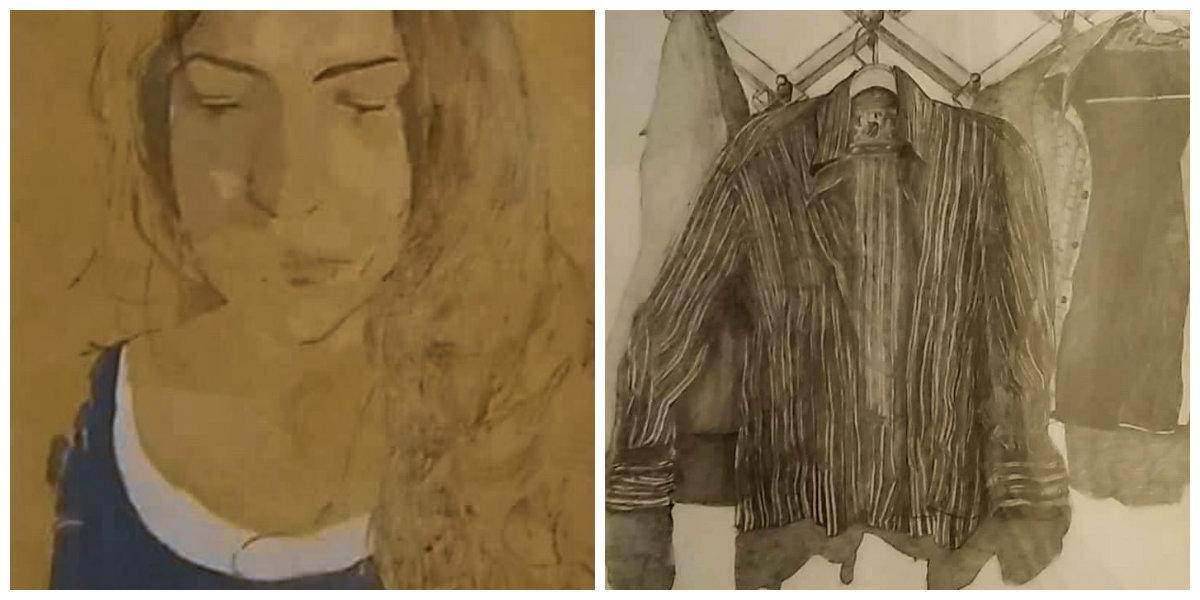 Δύο έργα του Βασίλη Παπανικολάου από την έκθεση «Ζωγραφικό επίγραμμα»