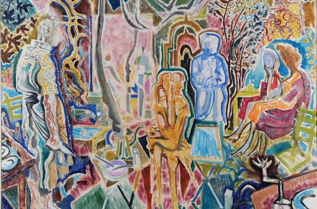 Νίκος Χατζηκυριάκος-Γκίκας,Βραδινές αναπολήσεις,1959, Λάδι σε μουσαμά,114x146, Εθνική Πινακοθήκη και Μουσείο Αλέξανδρου Σούτσου. Δωρεά του καλλιτέχνη.