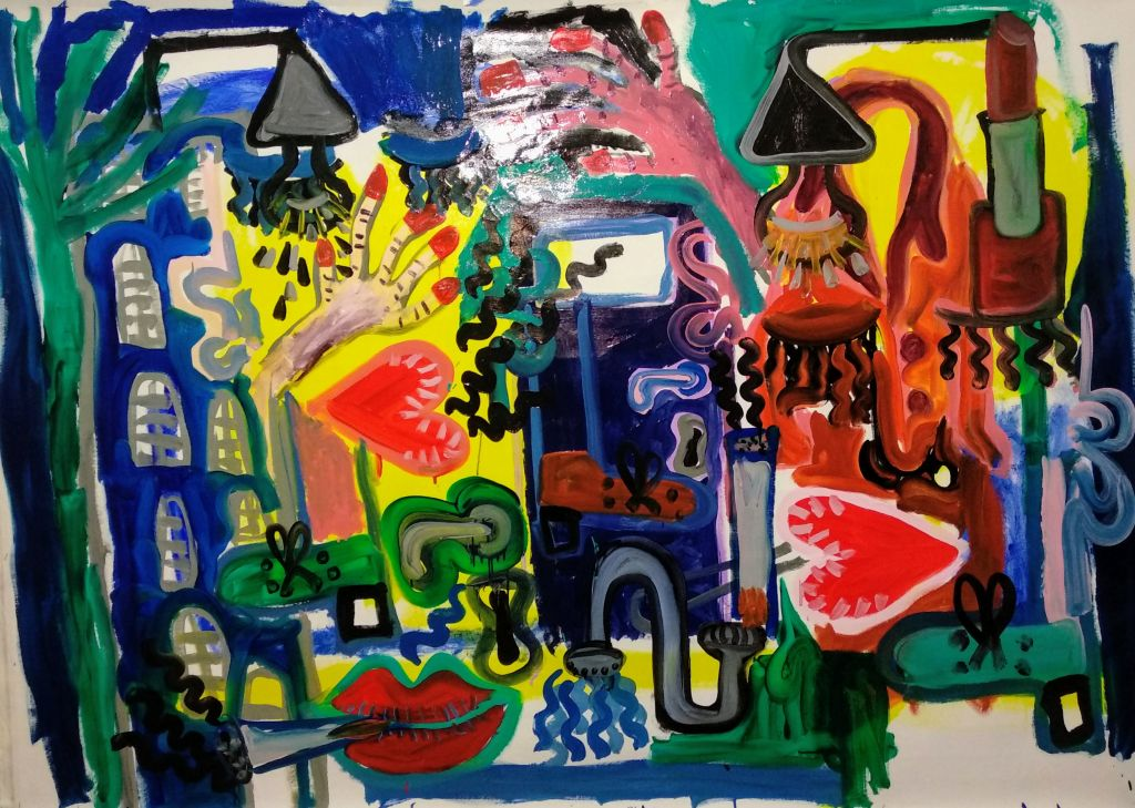 5th floor - Oil and mixed media on canvas - 1.80 x 2.00 -2020 (8)
