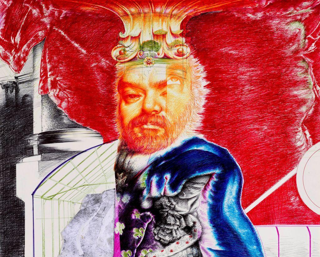 Λεπτομέρεια από: Nikos Moschos, «Stone grower,n.3», 2019, pen and collage on paper, 50x70 cm@ZG