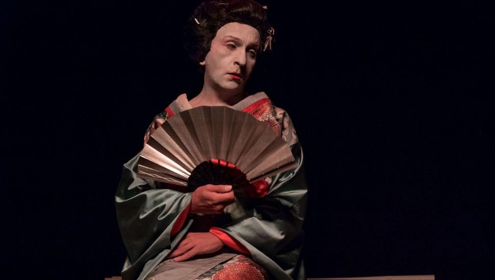 Φωτογραφία από την παράσταση των SRSYLyours-Achim Wieland με τον Μάριο Ιωάννου ©Giovanna Paolillo