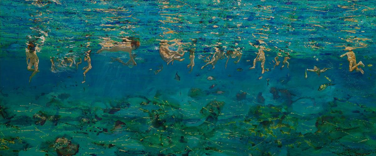Ροή, 2011, λάδι σε μουσαμά, 197 x 155 εκ.