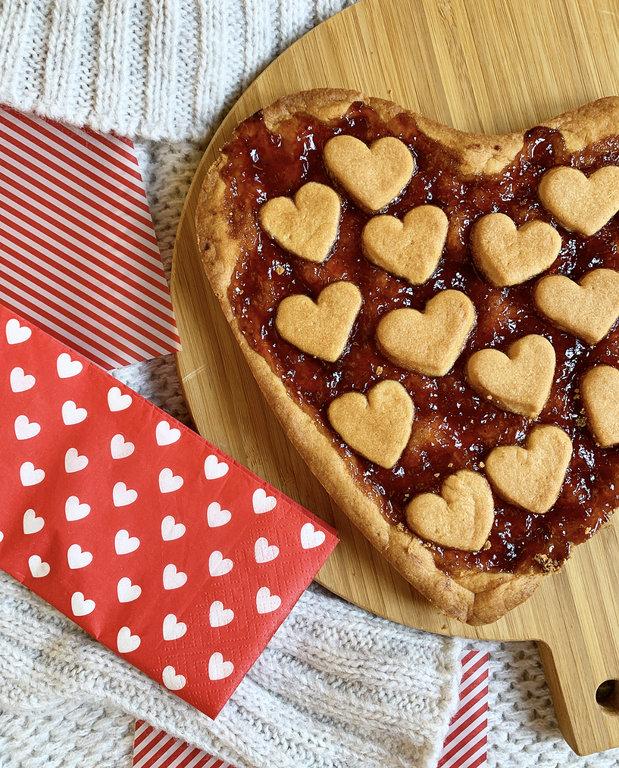 Συνταγή: Πάστα Φλώρα με μαρμελάδα φράουλα