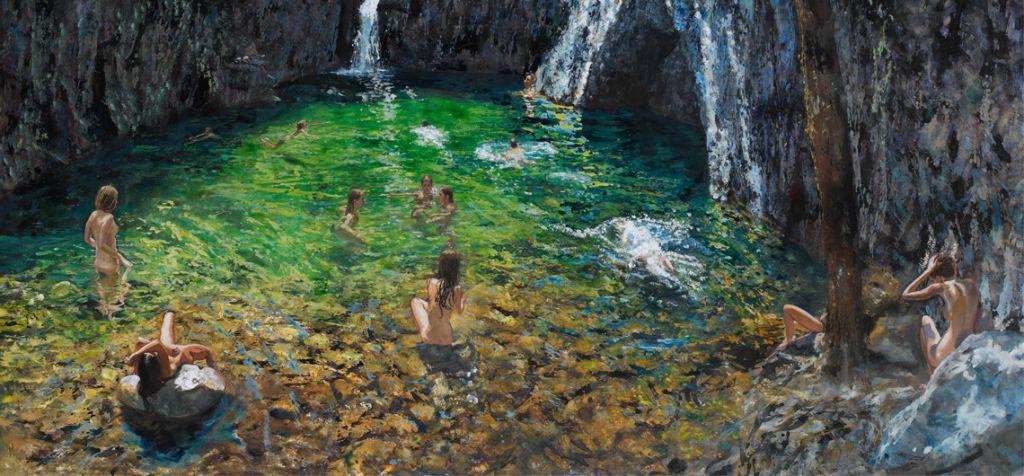 Μύστες, 2011, λάδι σε μουσαμά, 159 x 200 εκ.
