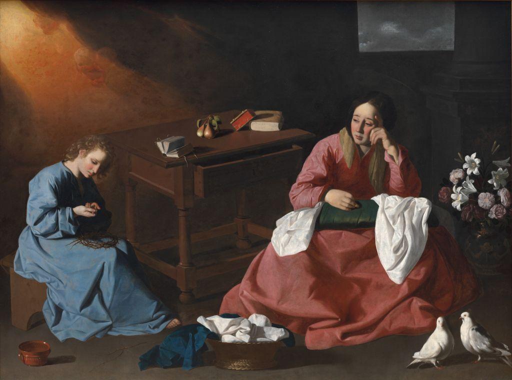 """Christ and the Virgin in the House at Nazareth"" (c. 1640), Francisco de Zurbarán"