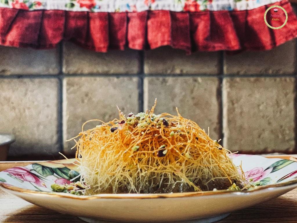 Κανταΐφι με φυστίκι Αιγίνης από το food blog Pandora's Kitchen