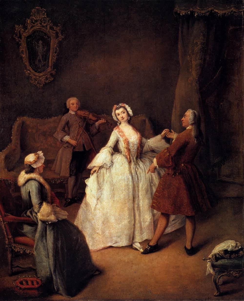 The Dancing Lesson, 1741, Pietro Longhi, Gallerie dell'Accademia (Venice, Italy)