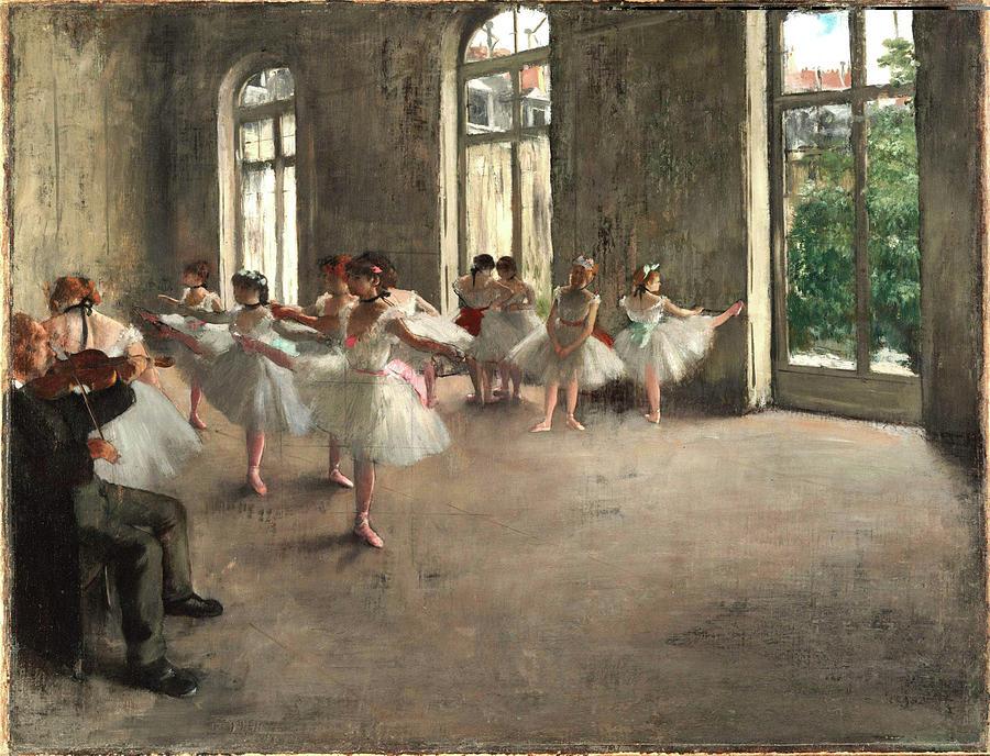 Ballet Rehearsal, 1873, Edgar Degas, The Fogg Art Museum, Cambridge, Massachusetts