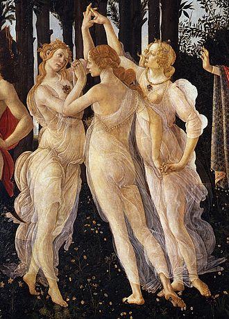 Τρεις Χάριτες, λεπτομέρεια στον πίνακα, Σάντρο Μποτιτσέλι