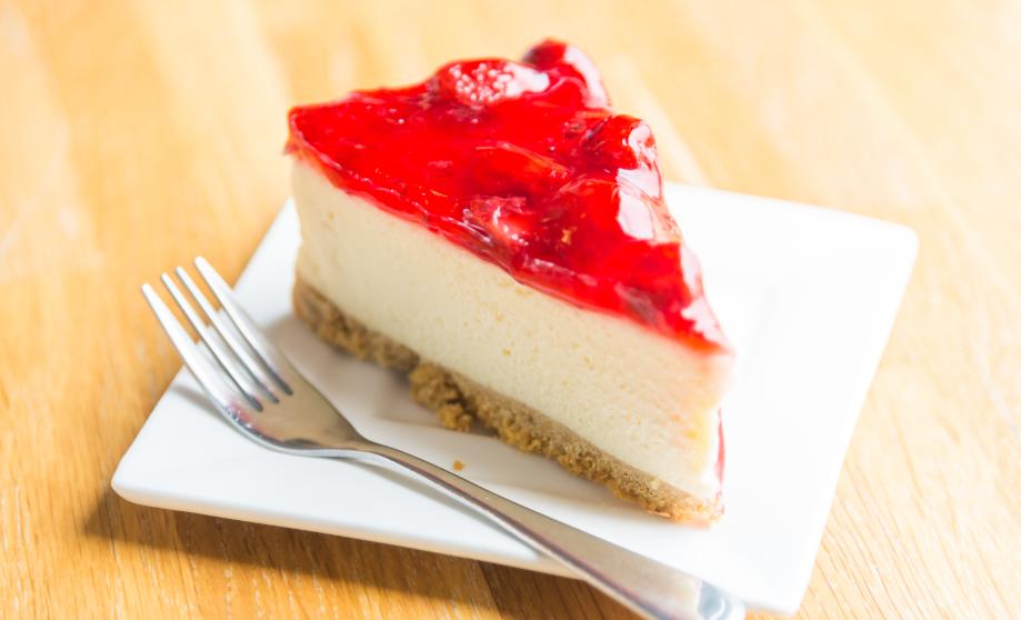 Cheesecake με μαρμελάδα φράουλα