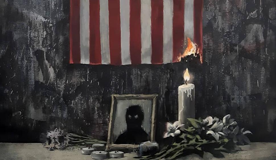 Μέρος του νέου έργου του Banksy