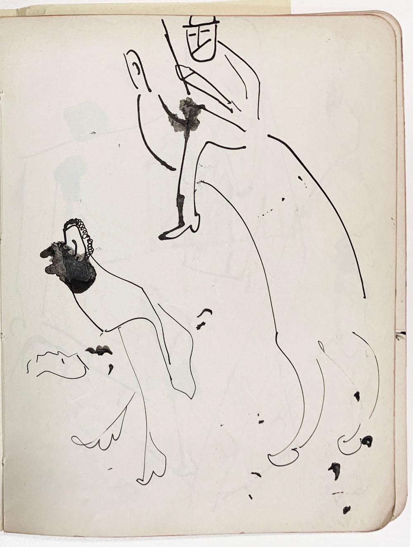 Σχέδιο του Φραντς Κάφκα από το ημερολόγιο του