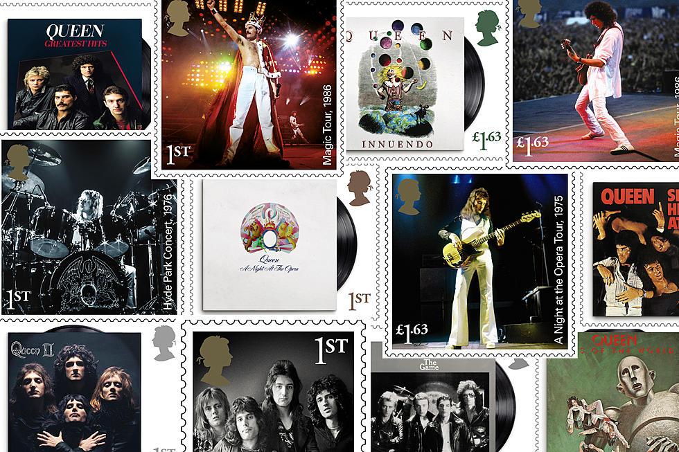 Μερικά από τα γραμματόσημα με τους Queen