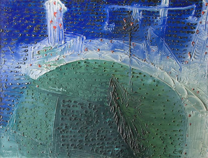 Θάνος Τσίγκος, «Το λιμάνι» | «The Port» 1959, Λάδι σε καμβά | 89 × 116 cm