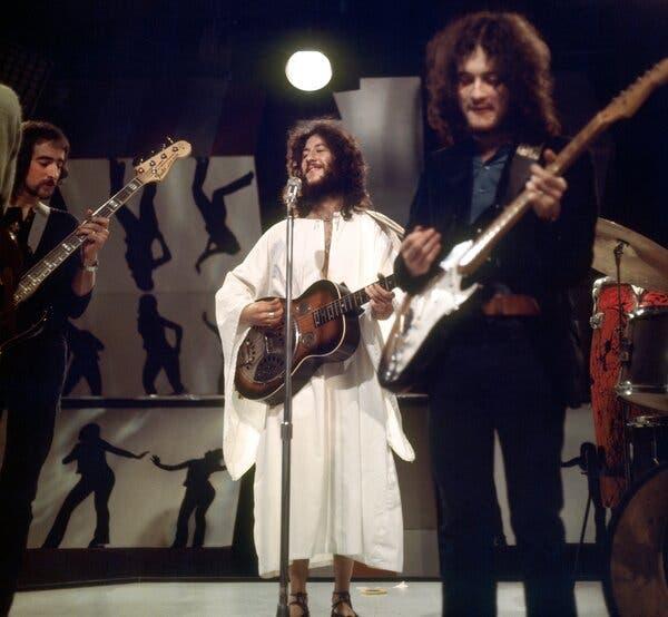 Ο Peter Green με τους Fleetwood Mac σε μουσική εμφάνιση