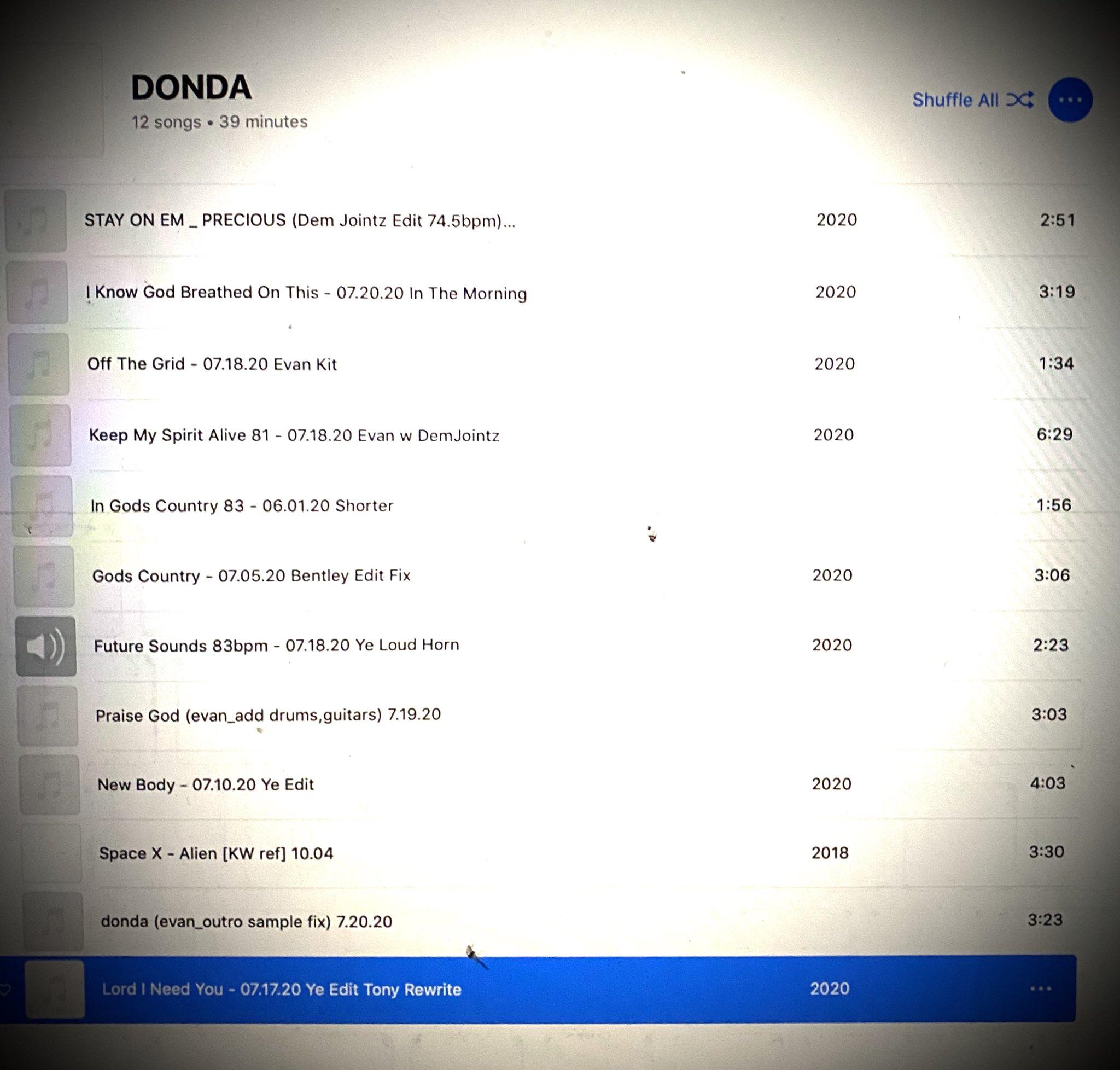 """Η tracklist του """"Donda"""""""
