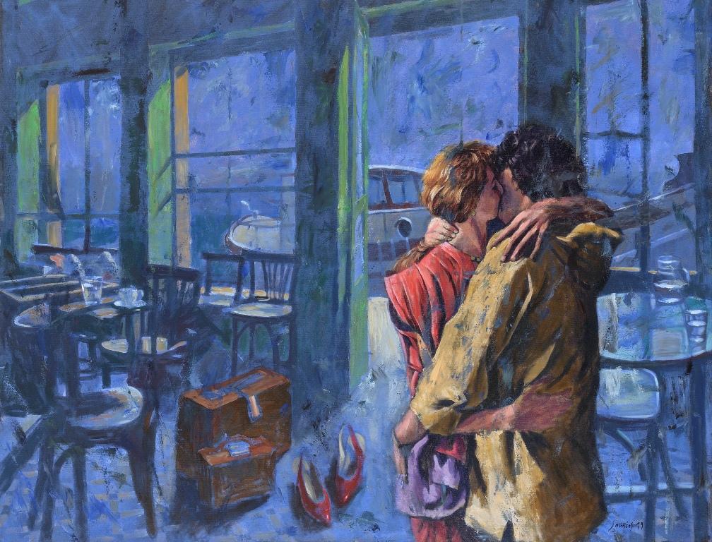 To φιλί, του Παύλου Σάμιου στη γκαλερί Σκουφά
