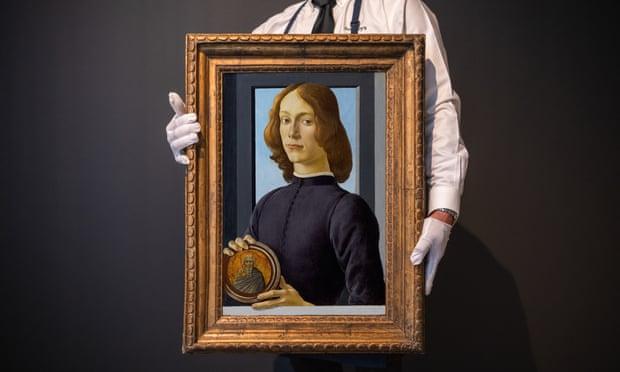 Νεαρός άνδρας που κρατά μία εικόνα, Σάντρο Μποτιτσέλι, 15ος αιώνας