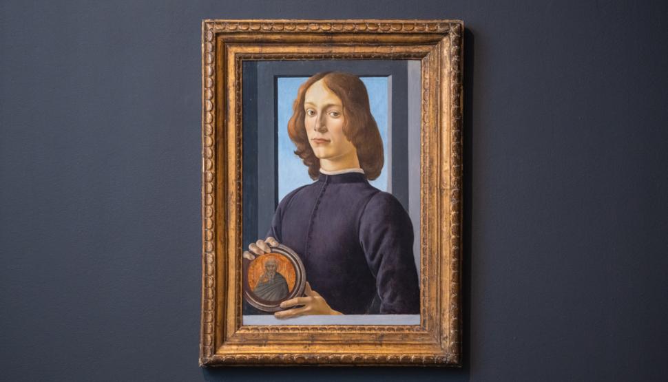 Σάντρο Μποτιτσέλι, Young Man Holding a Roundel, 15ος αιώνας ©Julian Cassady, Sotheby's