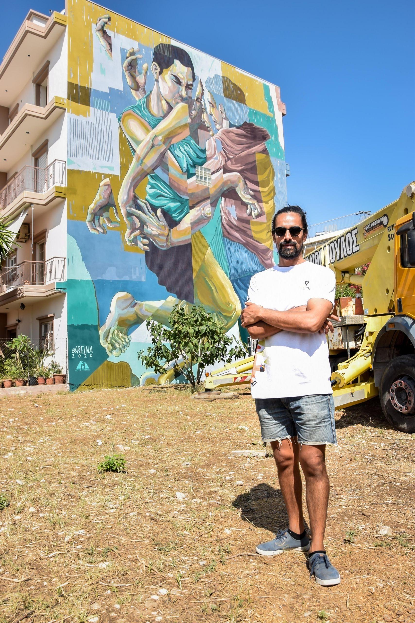 "ArtWalk 5: Ο street artist, Leandro Bustamante (a.k.a. ""El Reina""), δημιούργησε στον αστικό ιστό της Πάτρας μία ακόμα εντυπωσιακή μεγάλου μεγέθους τοιχογραφία."
