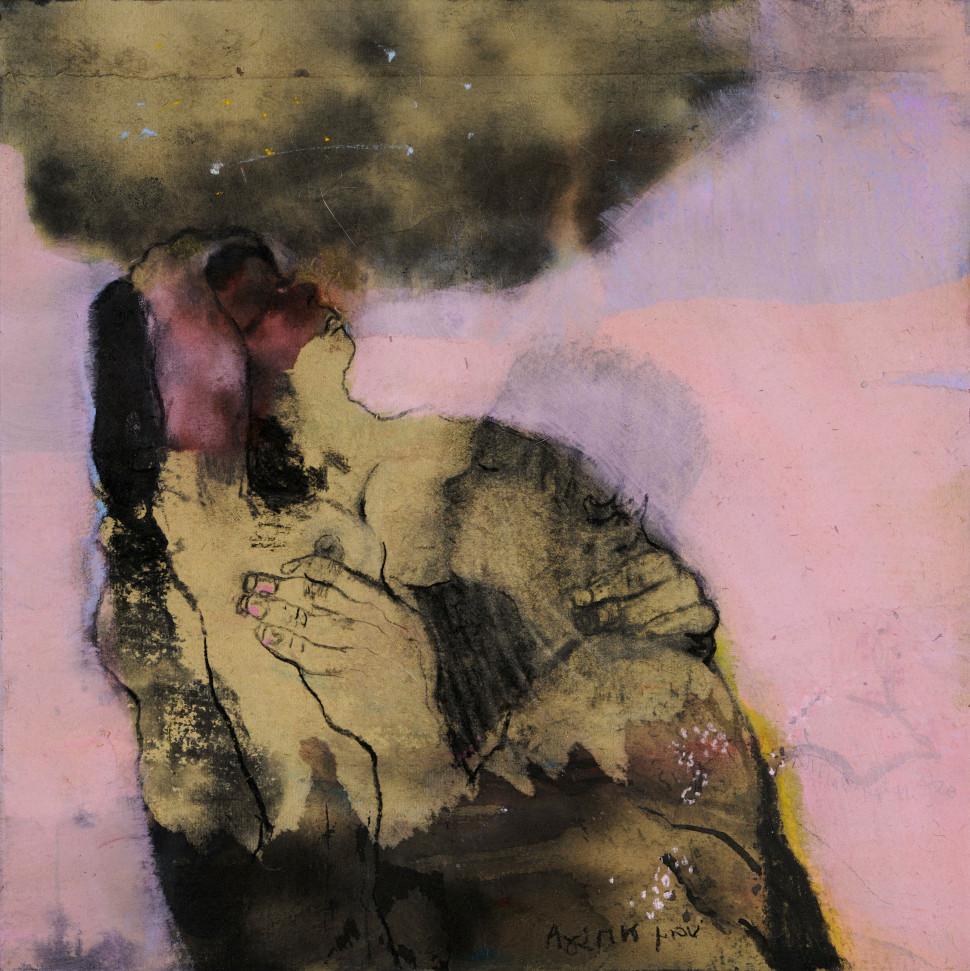 Μαρία Γιαννακάκη, Xωρίς τίτλο ακρυλικό και μελάνι σε ριζόχαρτο, 2020 για την έκθεση Άνοιξη τον Χειμώνα