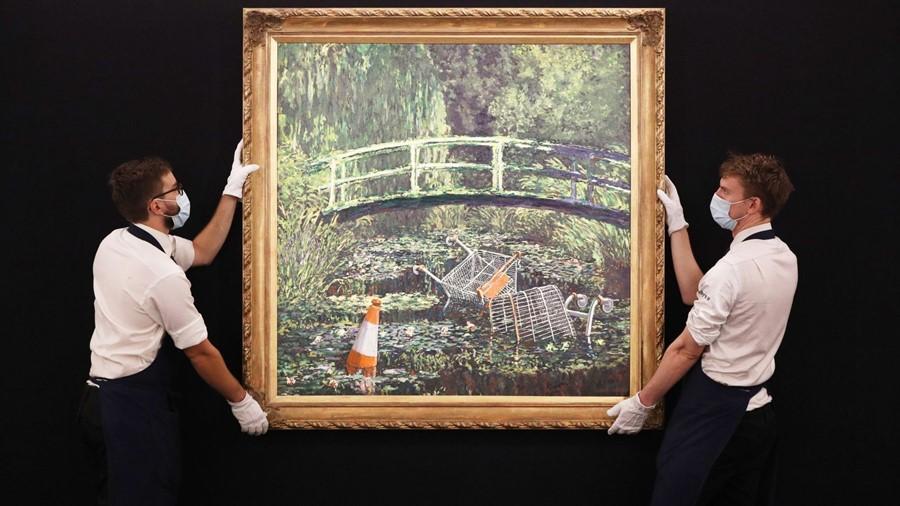 """""""Δείξε μου τον Μονέ"""", Banksy, φωτογραφία: Sotheby's"""