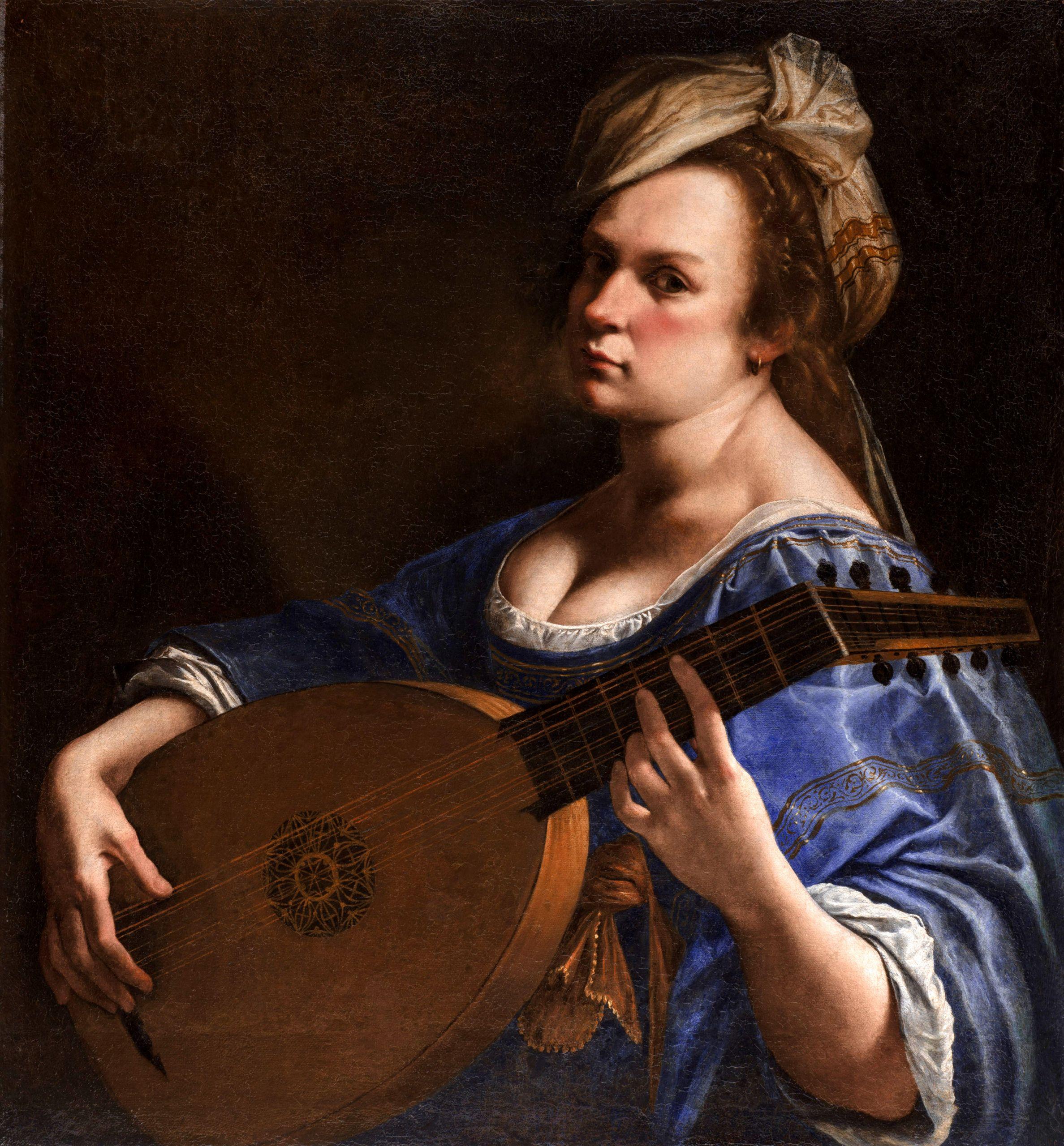 Αρτεμισία Τζεντιλέσκι, Αυτοπροσωπογραφία ως μουσικός λαούτου, Wadsworth Atheneum Museum of Art
