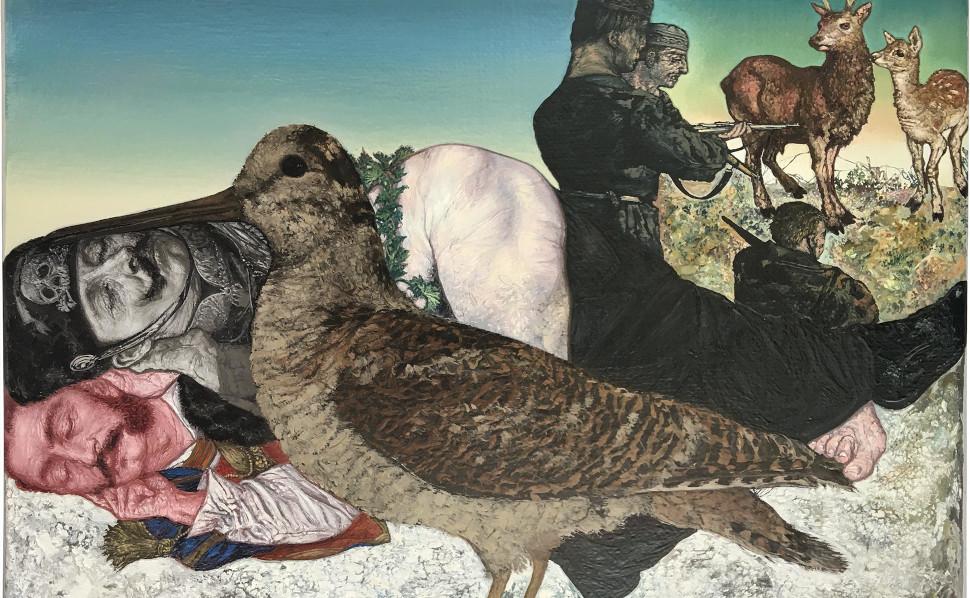 Εμμανουήλ Μπιτσάκης, Safe for Now, 2003-2019, Oil on canvas,