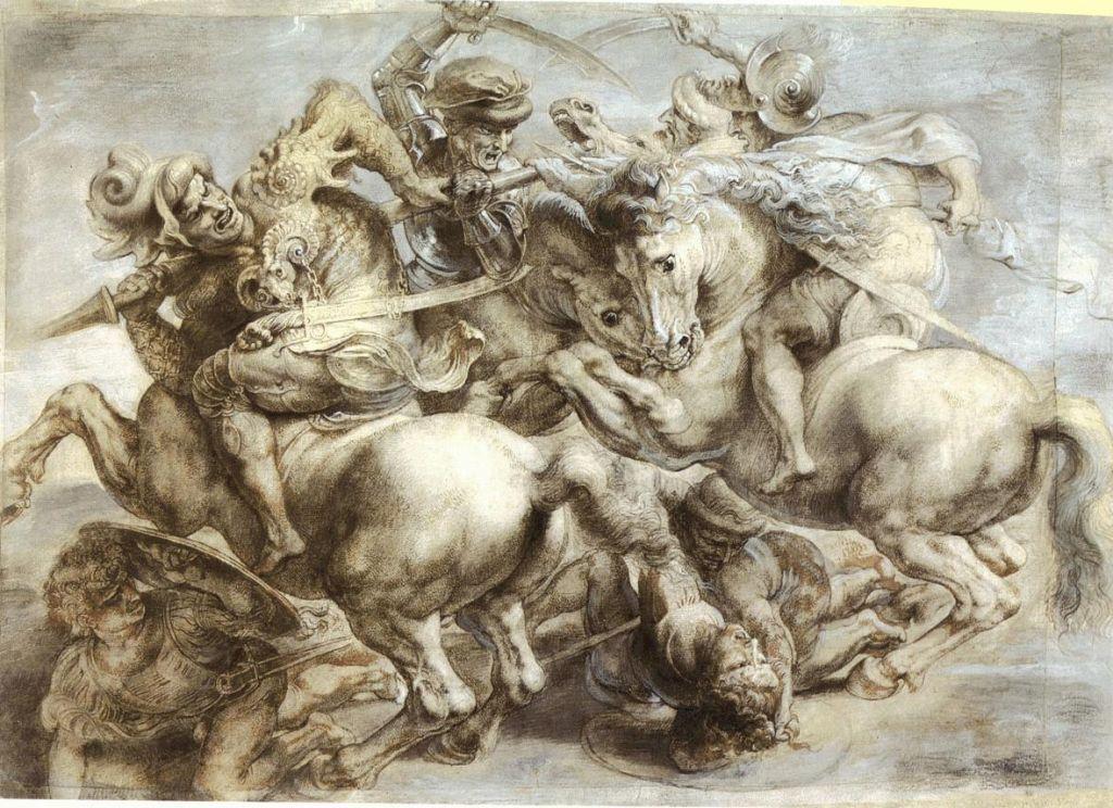 Η Μάχη του Ανγκιάρι, το αντίγραφο του Ρούμπενς