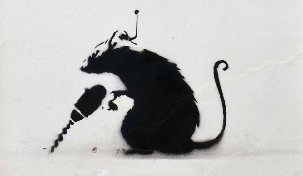 Αρουραίος με τρυπάνι, Banksy