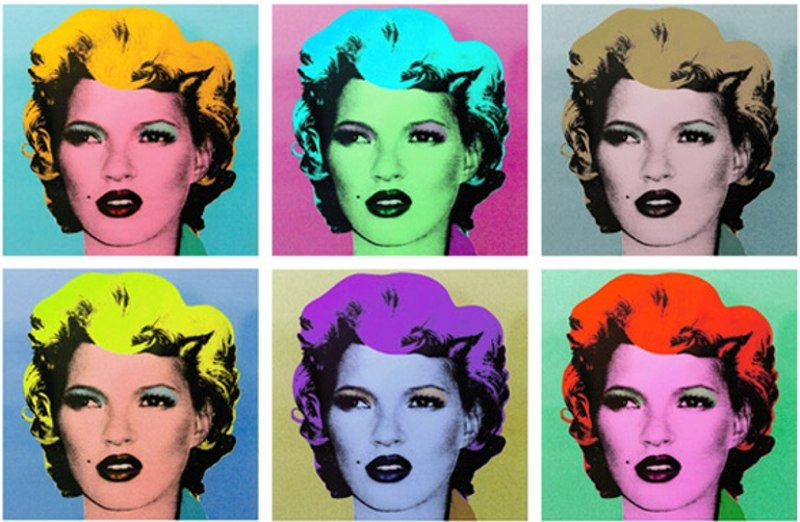 Η Κειτ Μος ως Μέρλιν Μονρόε στον διάσημο πίνακα του Andy Warhol, από τον Banksy