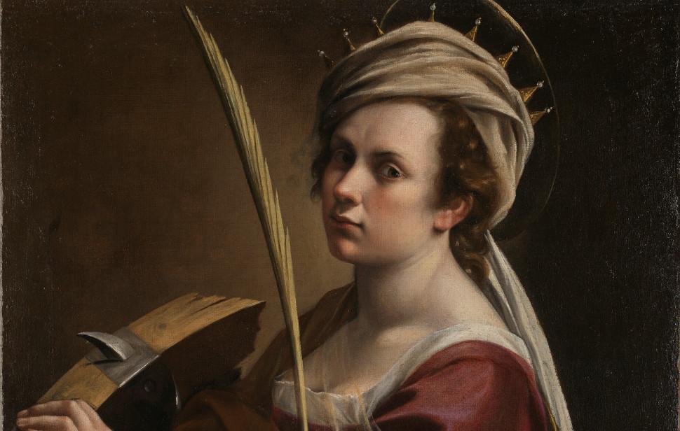 «Αυτοπροσωπογραφία της Αρτεμισία Τζεντιλέσκι ως Αγία Αικατερίνη», Εθνική Πινακοθήκη του Λονδίνου