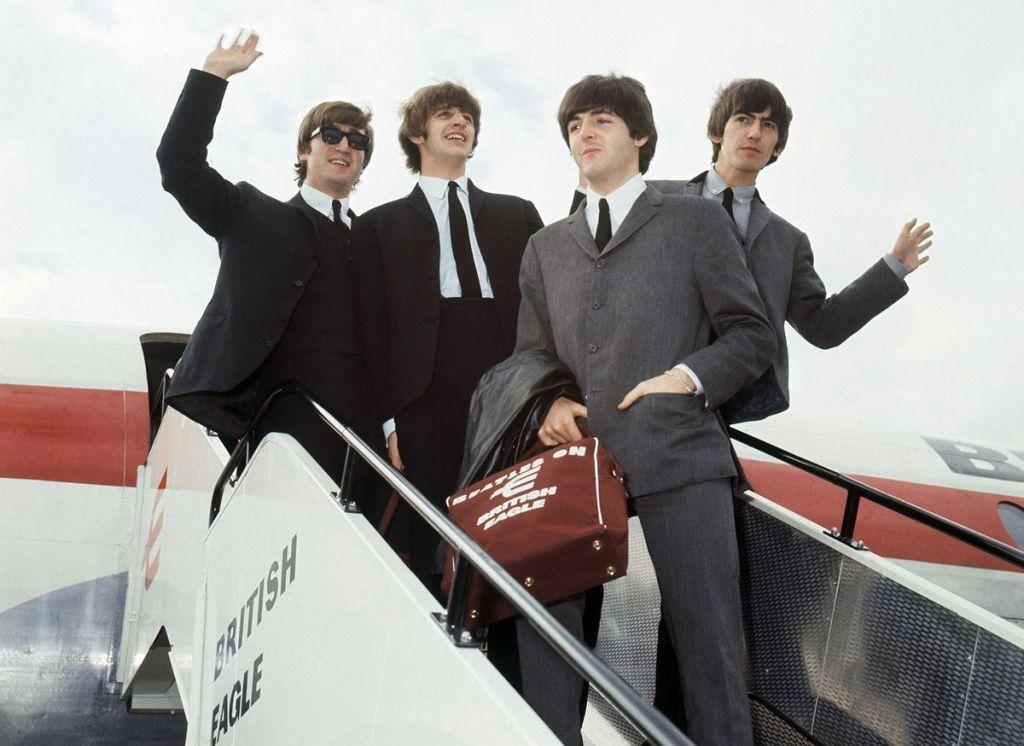 Οι Beatles στο αεροδρόμιο του Λονδίνου το 1964