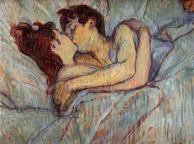 In Bed, The Kiss