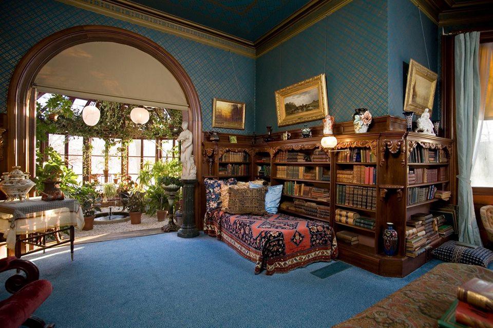 Το εσωτερικό του σπιτιού του Μαρκ Τουαίην, στο Χάρτφορντ των Ηνωμένων Πολιτειών.