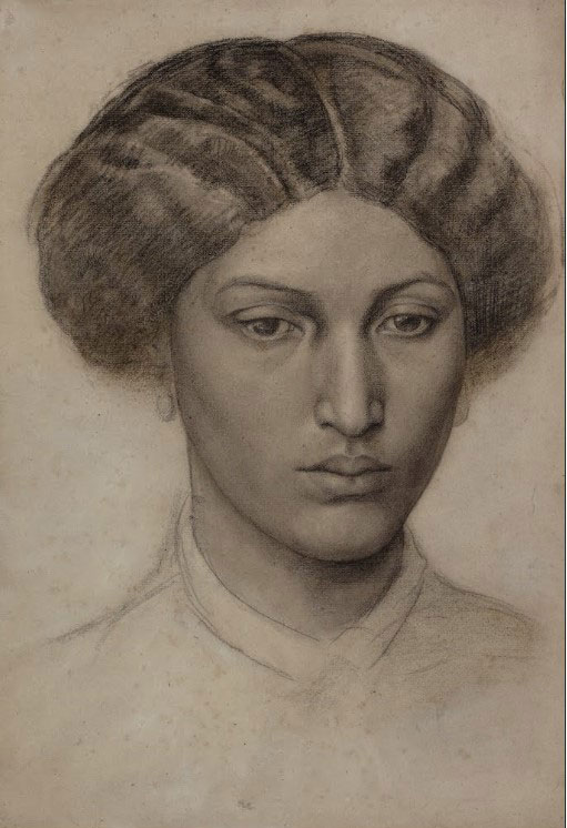 Study of a Young Woman (Mrs Eaton), c.1863–1865, Dante Gabriel Rossetti (1828–1882)