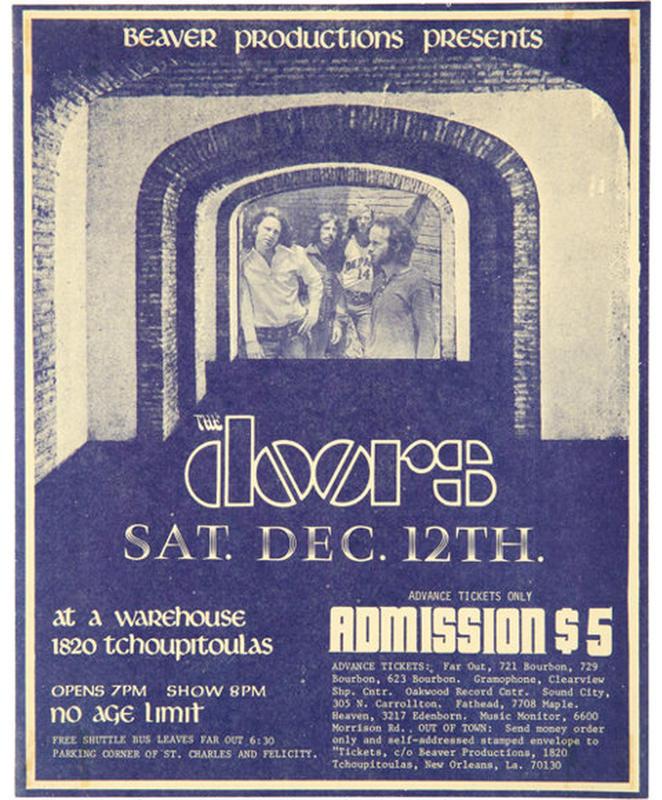 Η αφίσα της τελευταίας συναυλίας των Doors με τον Τζιμ Μόρισον